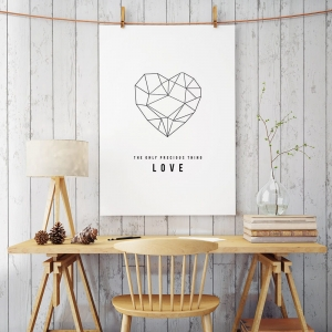 Love heart - plakat