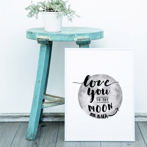 Love you to the moon - plakat