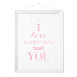 I love everything about You - plakat