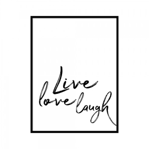 Live love laugh - plakat