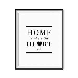 Home is where the heart is - plakat