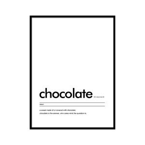 Chocolate - plakat