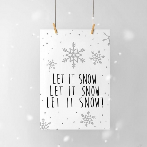 Let it snow - plakat