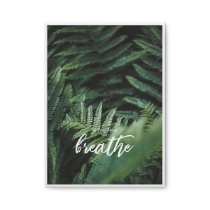 Let your heart breathe - plakat